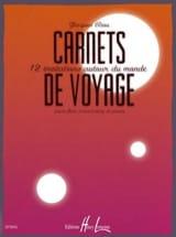 Carnets de Voyage Jacques Riou Partition laflutedepan.com