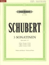 SCHUBERT - 3 Sonatines Op Posth. 137 - Partition - di-arezzo.fr