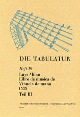 Luis Milan - Libro of Musica de Vihuela by Mano 1535 - Book 19 - Vol.III - Sheet Music - di-arezzo.com