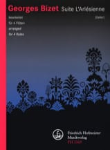 BIZET - Following the Arlésienne - 4 Flutes - Sheet Music - di-arezzo.com