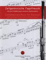 Contemporary Music For Basoon Partition Basson - laflutedepan