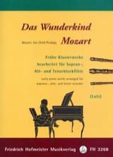 Das Wunderkind Mozart MOZART Partition Flûte à bec - laflutedepan.com