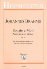 BRAHMS - Son minor in E Minor Op。38 - 楽譜 - di-arezzo.jp
