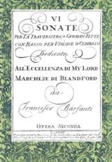 Vi Sonate Per la Traversiera O German Flute Con il Basso laflutedepan.com