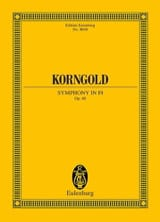 KORNGOLD - Symphony in F sharp - Opus 40 - Sheet Music - di-arezzo.co.uk