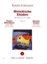 Ramin Entezami - Etudes Mélodiques Volume 2 - Partition - di-arezzo.fr
