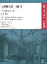 Giuseppe Torelli - Sinfonia To Tre Op.5 N ° 9 - Sheet Music - di-arezzo.com