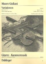 Mauro Giuliani - Variations Flûte & Guitare Wo0 G & F 5 - Partition - di-arezzo.fr