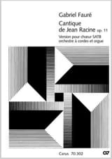 Gabriel Fauré - Song of John Racine Op. 11 - Version with Orch. stringed - Sheet Music - di-arezzo.com