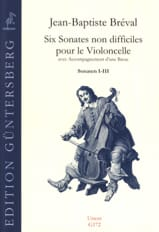 6 Sonates Non Difficiles Pour le Violoncelle Op.40 - Sonates 1 A 3 - laflutedepan.com