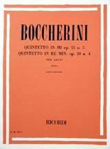 Luigi Boccherini - 6 Quintetti Volume 1 Op.13 N°5 et Op.20 N°4 - Partition - di-arezzo.fr