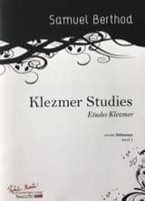 Klezmer Studies Samuel Berthod Partition Clarinette - laflutedepan.com