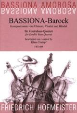 Bassiona-Barock HAENDEL Partition Contrebasse - laflutedepan.com