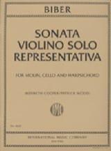 Sonata Violino Solo Representativa 1669 BIBER Partition laflutedepan