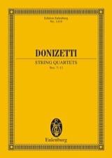 Gaetano Donizetti - String Quartets N°7-12 - Partition - di-arezzo.fr