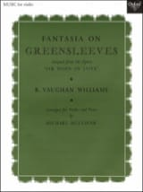 Fantasia On Greensleeves Williams Ralph Vaughan laflutedepan.com