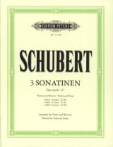SCHUBERT - 3 Sonatines Opus Posth.137 - Partition - di-arezzo.fr