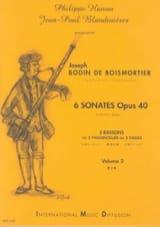 BOISMORTIER - 6 Sonatas Opus 40 Volume 2 - Sheet Music - di-arezzo.com