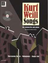 Kurt Weill - Kurt Weill Songs For Cello & Piano - Partition - di-arezzo.fr