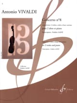 Concerto N°8 Opus 3 VIVALDI Partition Alto - laflutedepan.com