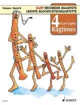 4 Ragtimes For Recorder Vol.8 Scott Joplin Partition laflutedepan.com