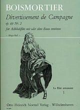 Joseph Bodin de Boismortier - Divertissement de Campagne Op 49 N° 2 Für Altblockflöte Mit Oder Ohne Bc - Partition - di-arezzo.fr