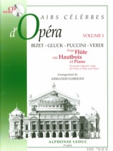 Airs célèbres d'opéra - Volume 1 - Flûte ou hautbois laflutedepan.com