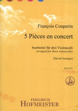 5 Pièces en Concert COUPERIN Partition Violoncelle - laflutedepan