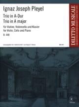 Trio en la Majeur B.448 (1794) Ignaz Pleyel Partition laflutedepan.com