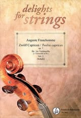 Auguste Franchomme - 12 Caprices Op.7 Vol.2 - Partition - di-arezzo.fr