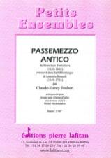 Claude-Henry Joubert - Passemezzo Antico - Sheet Music - di-arezzo.com