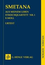 Bedrich Smetana - Quatuor A Cordes N°1 en Mi Mineur Aus Meinem Leben - Partition - di-arezzo.fr