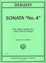 DEBUSSY - Sonata N ° 4 - Sheet Music - di-arezzo.co.uk