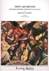 Philippe Gaubert - 3 Aquarelles - Flûte-Violoncelle-Piano - Partition - di-arezzo.fr