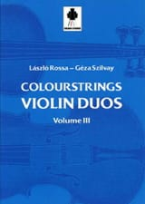 Violin Duos Vol 3 Laszlo et Szilvay Géza Rossa Partition laflutedepan