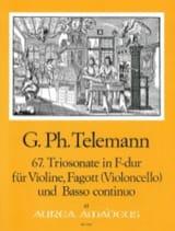 Georg Philipp Telemann - Triosonate F-Dur Twv 42:f1 - Partition - di-arezzo.fr
