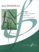 9 Tangos Astor Piazzolla Partition Clarinette - laflutedepan.com