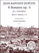6 Sonates Opus 4 Volume 1 Jean-Baptiste Dupuits laflutedepan.com