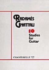 10 Etudes Radamès Gnattali Partition Guitare - laflutedepan.com