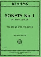 Sonate N°1 Op.38 en Mi Mineur BRAHMS Partition laflutedepan.com