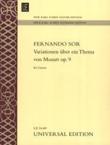 Variations sur un Thème de Mozart Op. 9 - laflutedepan.com