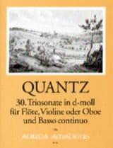 Johann Joachim Quantz - Trio- Sonate In D-Moll Qv 2:anh. 9 - Partition - di-arezzo.fr