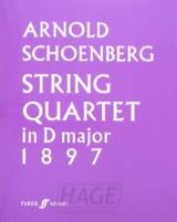 Quatuor en Ré Majeur 1897 Arnold Schoenberg Partition laflutedepan.com