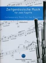 - Musique Contemporaine Pour 2 Bassons - Partition - di-arezzo.fr