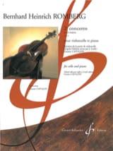 Bernhard Heinrich Romberg - 2ème Concerto en Ré Majeur Opus 3 - Partition - di-arezzo.fr