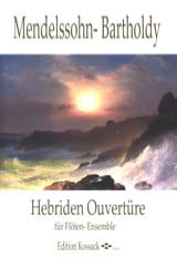 MENDELSSOHN - Hebriden Overture - Flöten Ensemble - Partition - di-arezzo.fr