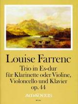Trio en Mib Majeur, opus 44 Louise Farrenc Partition laflutedepan.com