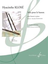 Solo pour le Basson Hyacinthe Klosé Partition laflutedepan.com