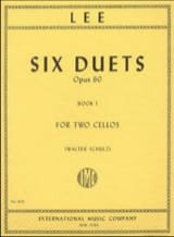 Sebastian Lee - Six Duets Opus 60 - Book 1 - Partition - di-arezzo.fr