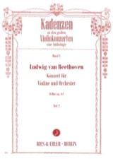 Ludwig van Beethoven - Cadences du Concerto pour Violon en Ré Majeur Opus 61 - Volume 2 - Partition - di-arezzo.fr